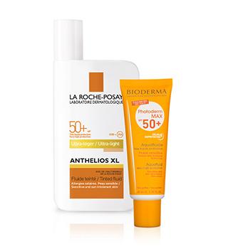 Dermatologische zonnebrandmiddelen en preparaten